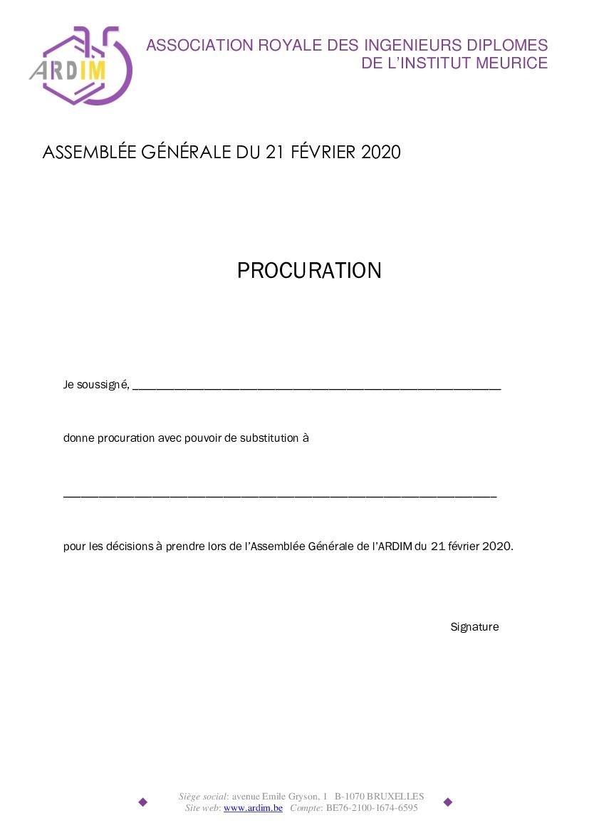 AG 2020 de l'ARDIM