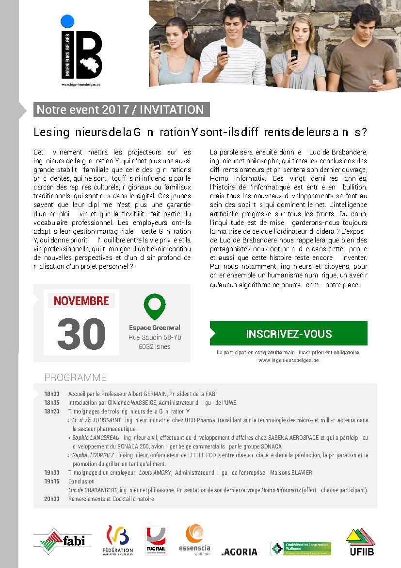 Conférence d'IB (ingénieurs Belges)
