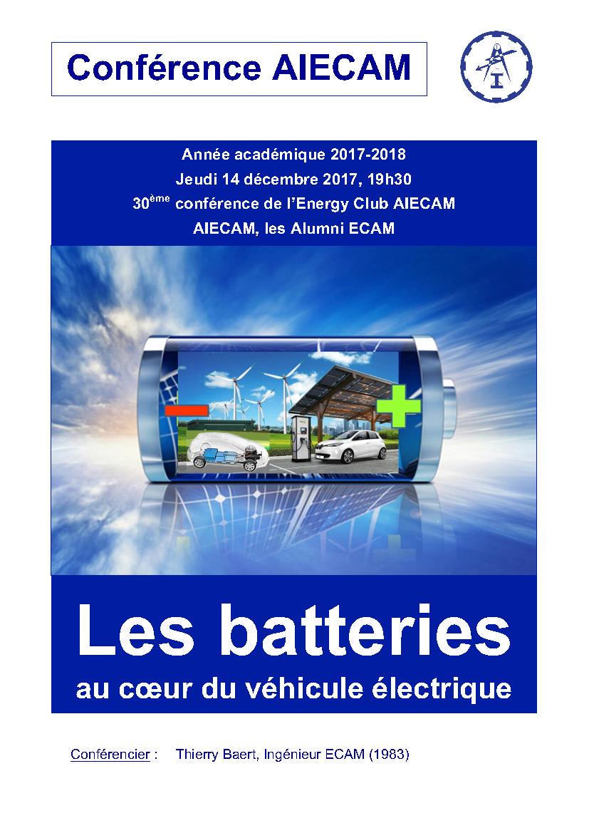 Les batteries au coeur du véhicule électrique - Conf. AIECAM